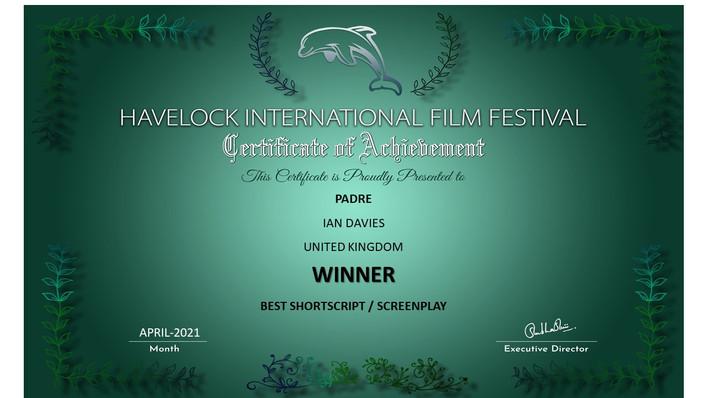 Padre // Havelock International Film Festival - Best Short script/Screenplay