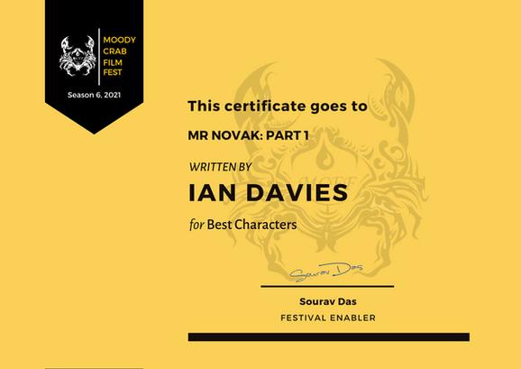 Mr Novak Part 1 // Moody Crab Film Fest - Best Characters