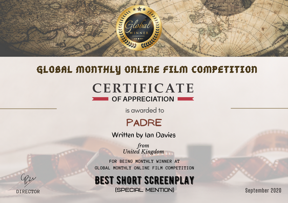 Padre // Global Monthly Online Film Competition -Best Short Screenplay/Special Mention.