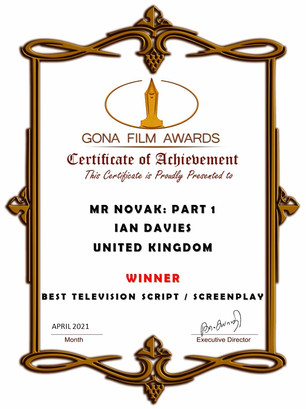 Mr Novak Part 1 // Gona Film Awards -  Best Television Screenplay
