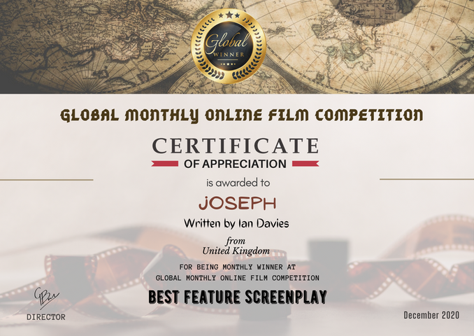 Joseph // Global Monthly Online Film Competition - Best Feature Screenplay