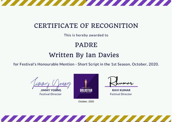 Padre // Goldstar Film Awards- Short Script