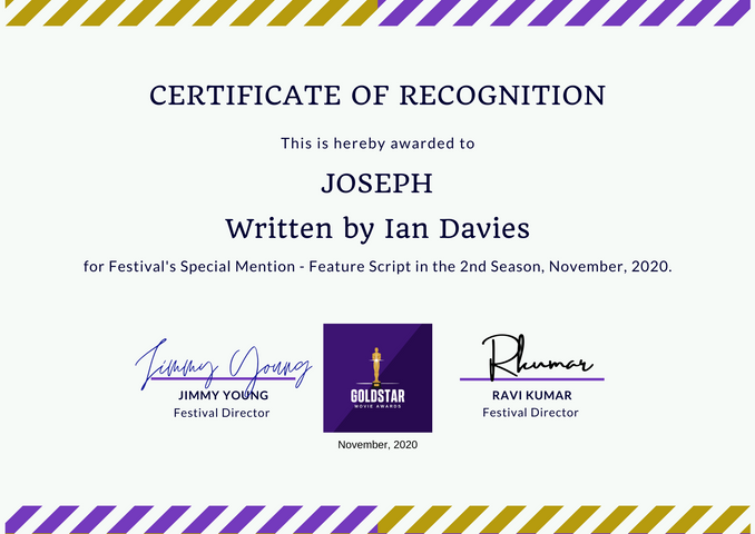 Joseph // Goldstar Film Awards -  Special Mention Feature Script