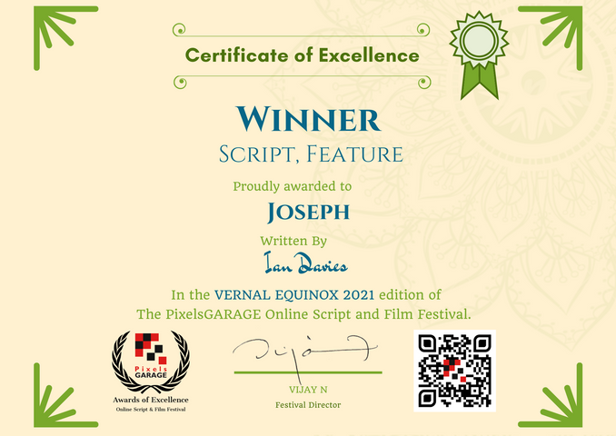 Joseph // PixelsGarage online script and festival - Winner Script Feature