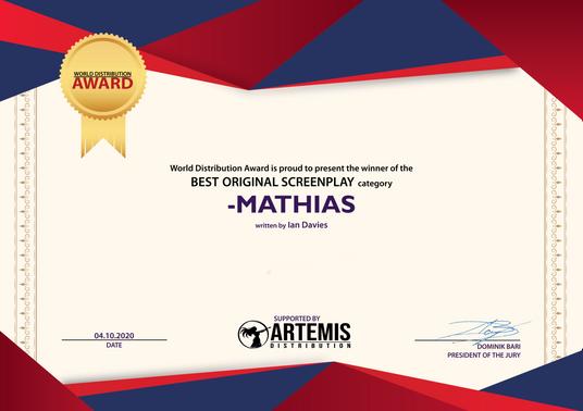 Mathias // World Distribution Award - Best Original Screenplay