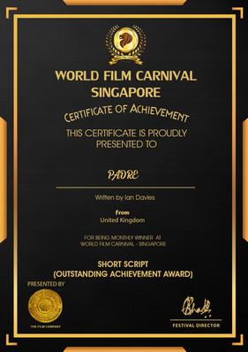 Padre // World Film Carnival Singapore - Short Script
