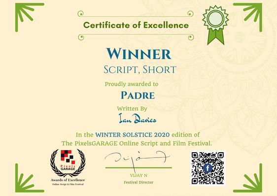 Padre // PixelsGarage Online Script and Film Festival - Winner Script, Short