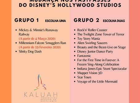 Mudança nos FastPasses do Disney's Hollywood Studios