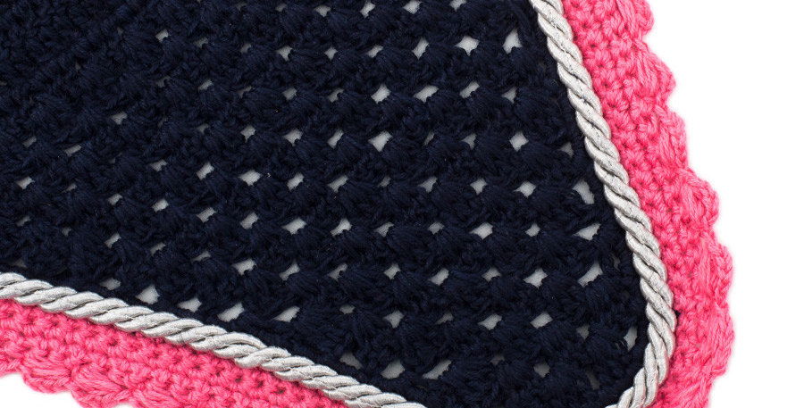 Bonnet - bleu marine/fushia-gris argent