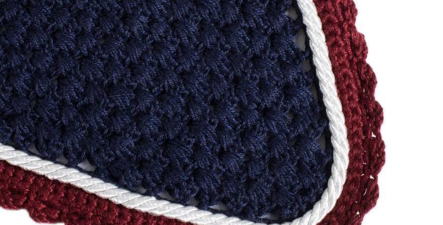 Bonnet - bleu marine/bordeaux-blanc