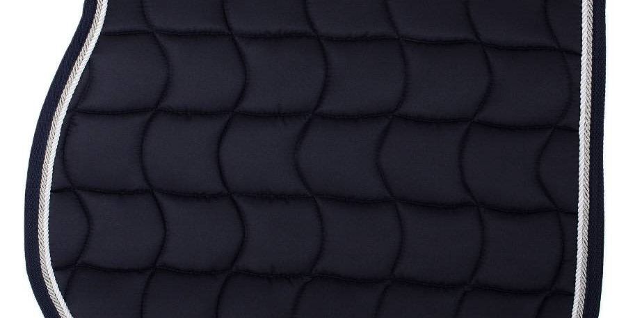 Tapis de selle - bleu marine/bleu marine-blanc/gris argent