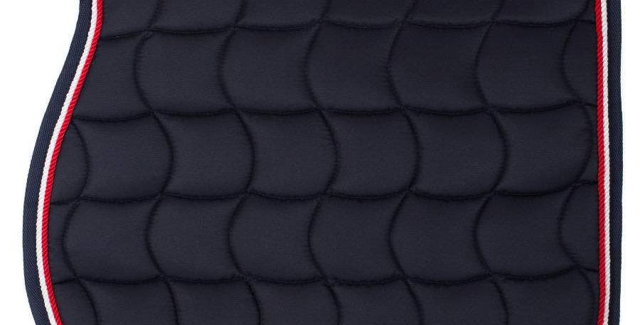 Tapis de selle - bleu marine/bleu marine-blanc/rouge