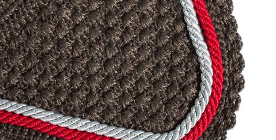 Bonnet - gris/gris-gris argent/rouge