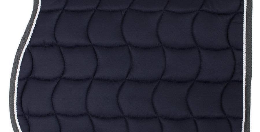 Tapis de selle - bleu marine/gris-blanc