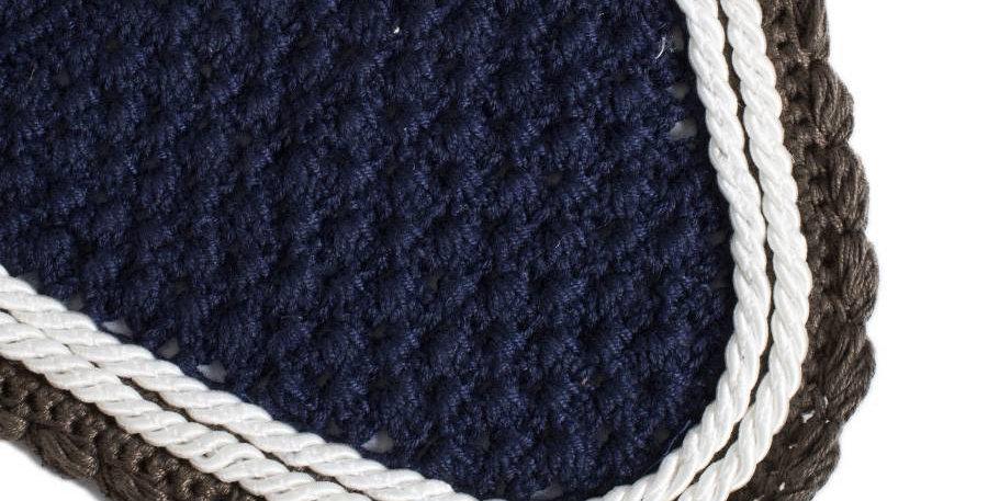Bonnet - bleu marine/gris-blanc/blanc