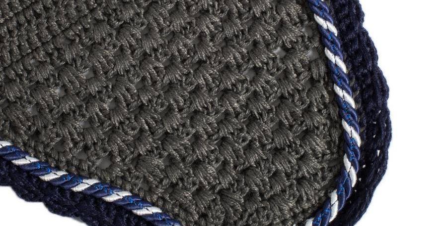 Bonnet - gris/bleu marine-mix