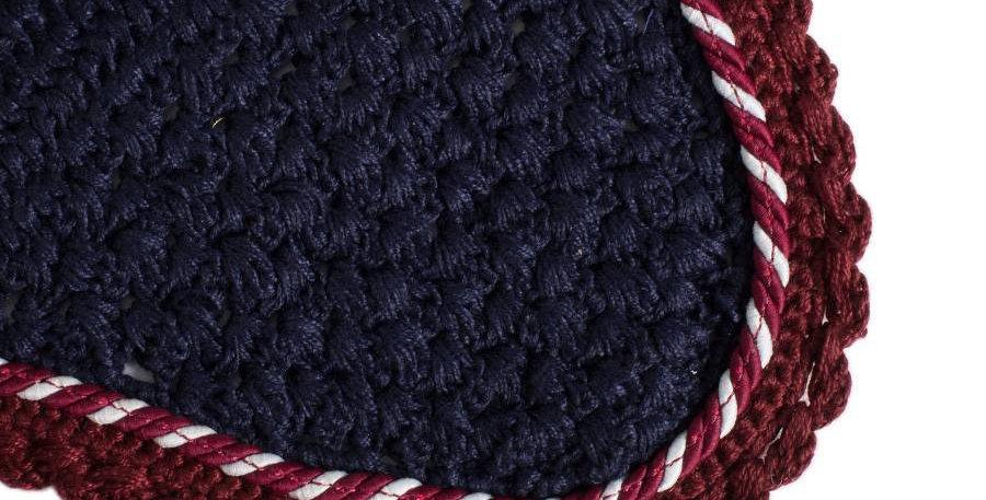 Bonnet - bleu marine/bordeaux-mix