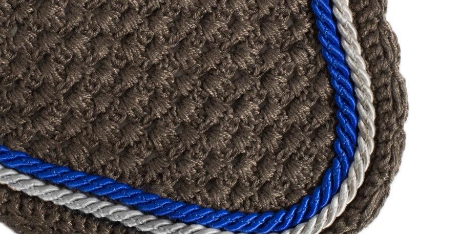 Bonnet - gris/gris-gris argent/bleu royal