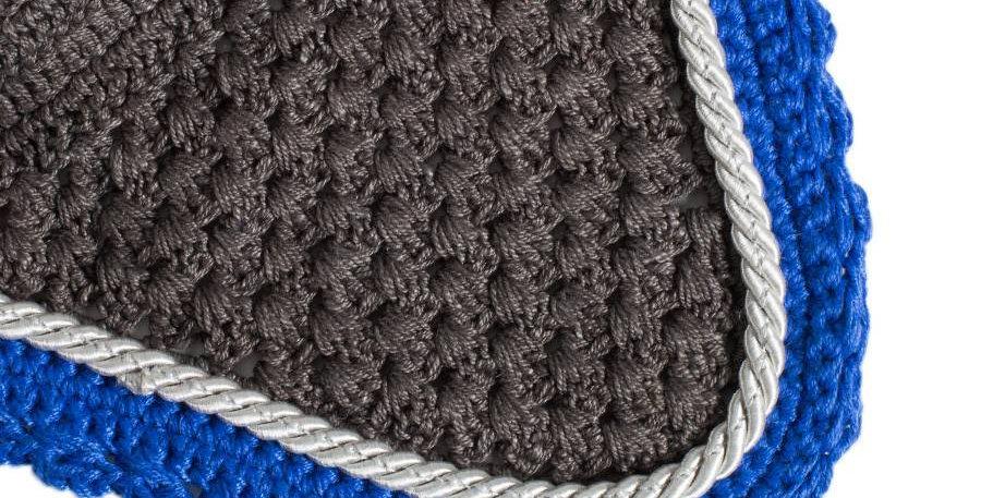 Bonnet - gris/bleu royal-gris argent