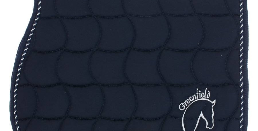Tapis de selle - bleu marine/bleu marine-mix avec logo GF