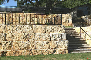 Matthew Hisey Bobcat Service Block Wall Construction in Leander Texas
