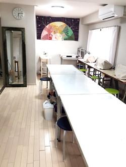芦屋ソーイング・裁縫教室の教室風景