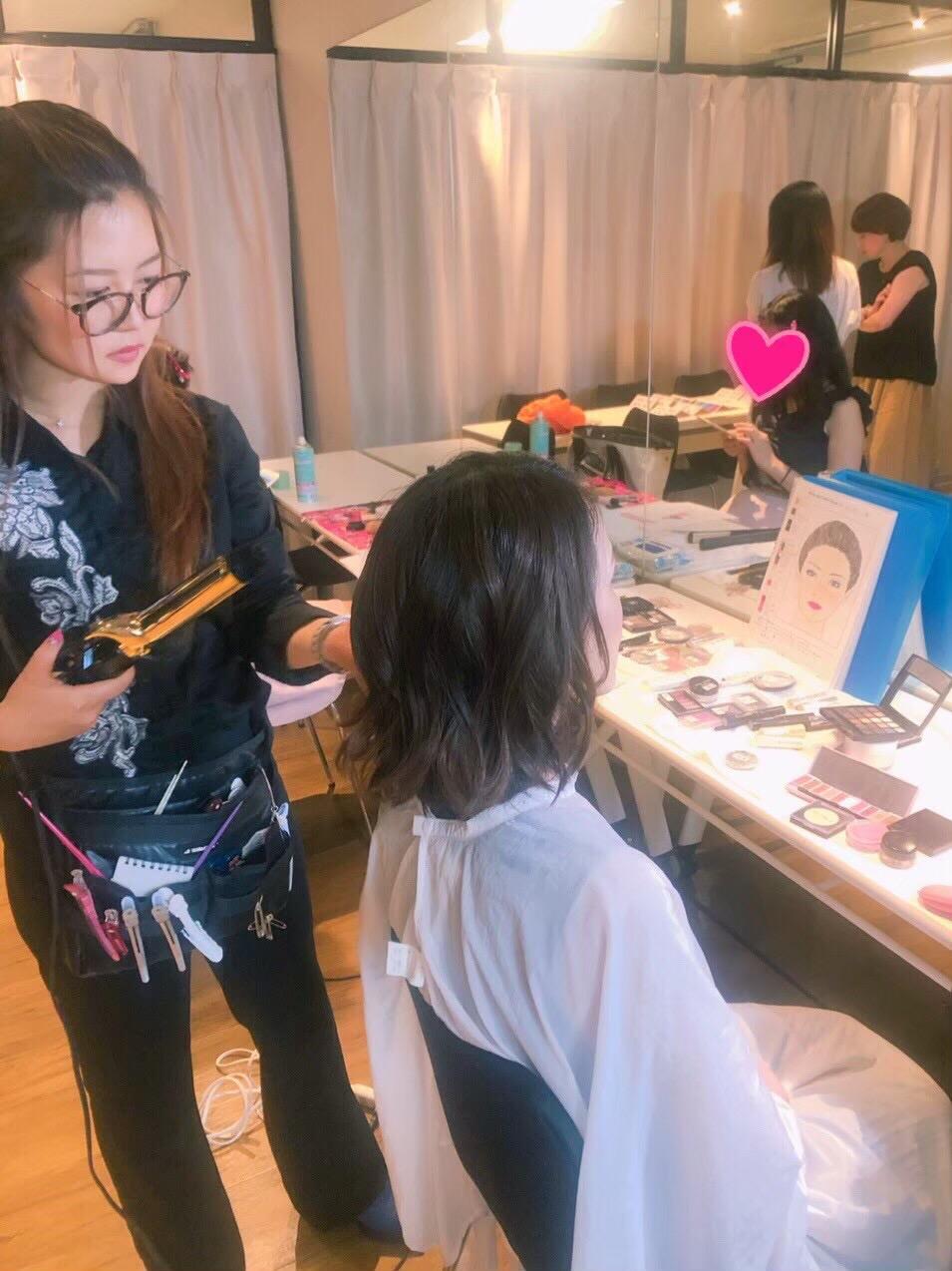 大阪のヘアメイク講座
