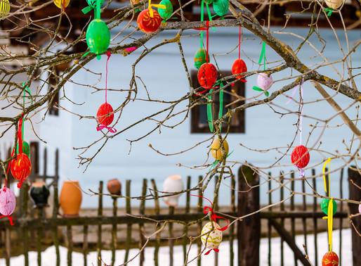 Erster Landseehof`s Osterbaum mit Eiersuche