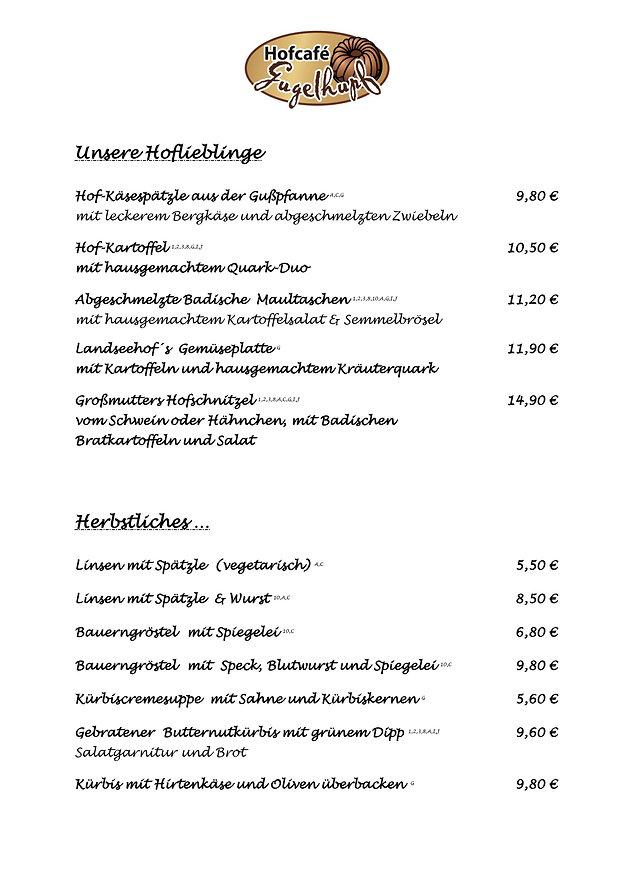 Speisekarte Landseehof