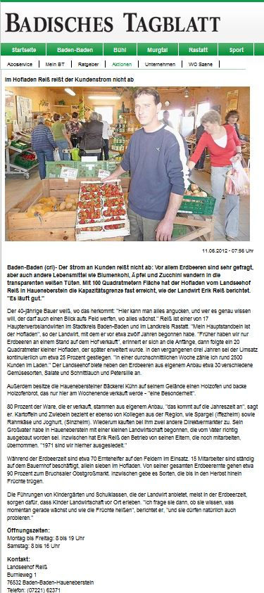 Badisches Tagblatt im Landseehof