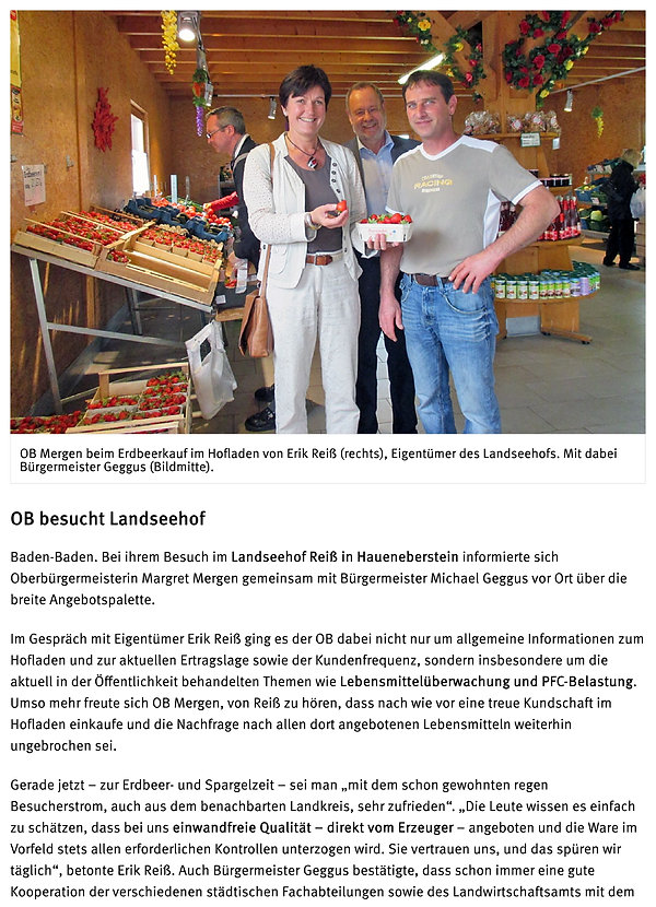 OB Mergen im Hofladen Landseehof