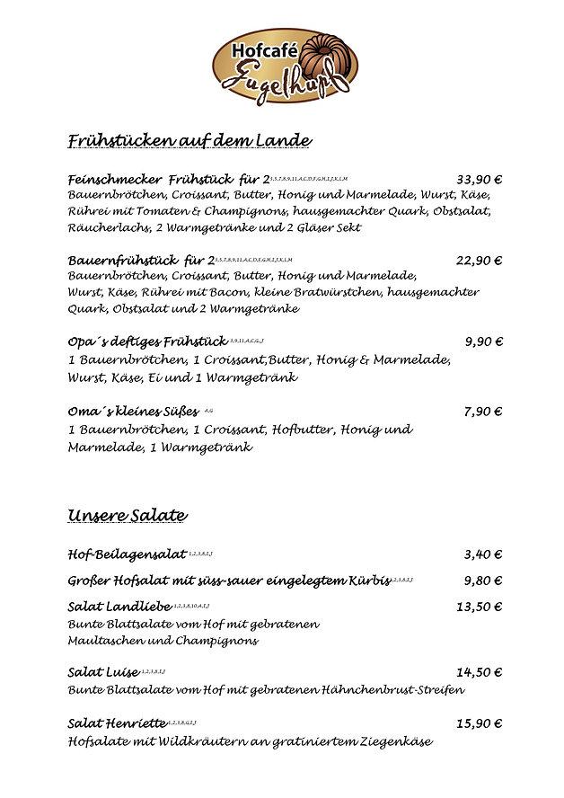 Früchstück Hofcafe Gugelhupf