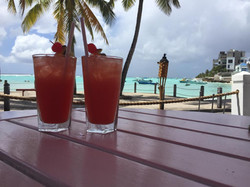 Rum punch in the sun