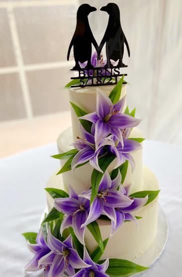 Purple Penguin Cake