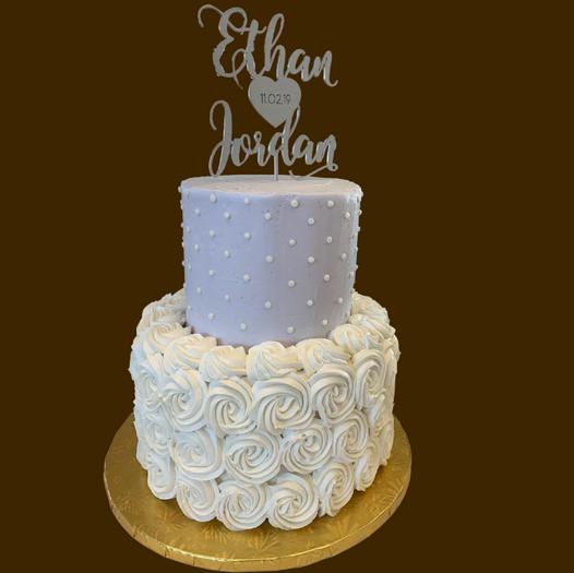 wedding cake two tier
