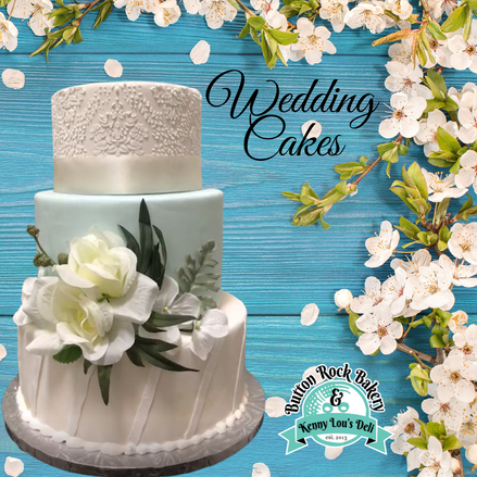 Wedding cakes from Button Rock Bakery