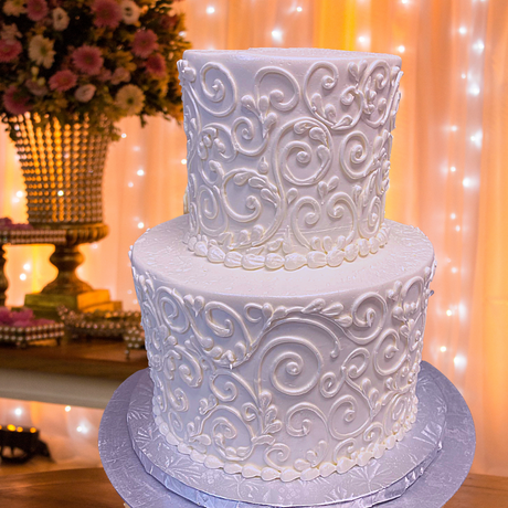 wedding cake scroll two tier