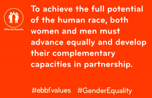 #GenderEquality #ebbfvalues