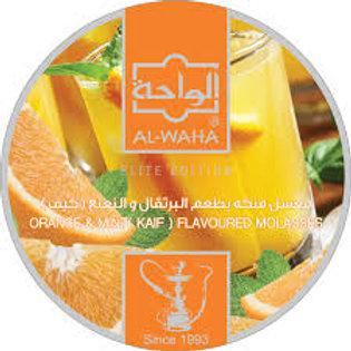 AL WAHA MOLASSES( ORANGE WITH MINT )