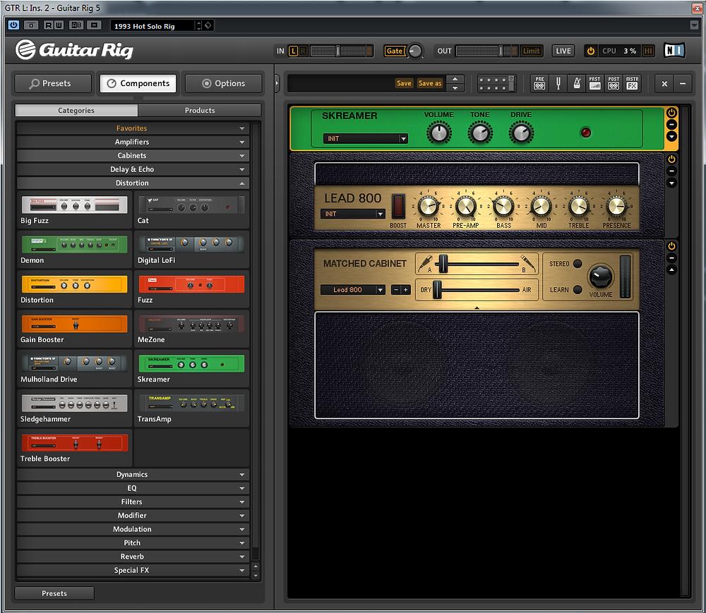 Marshall JCM 800+TS9 By Guitar Rig