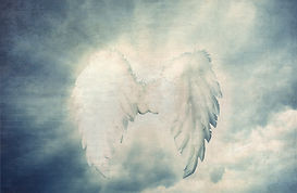 Guardian Angel white wings over dramatic