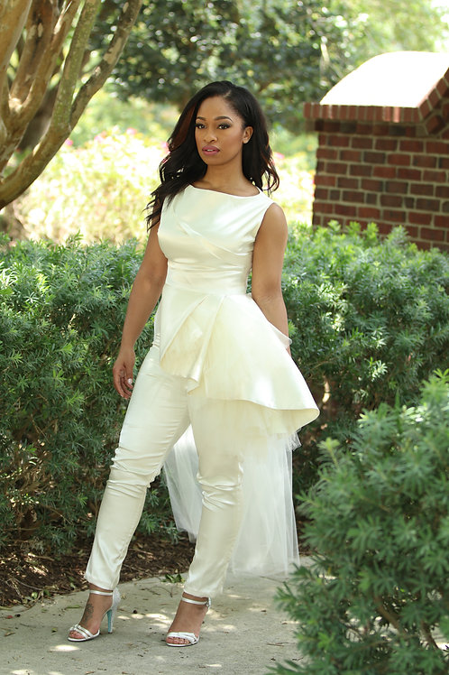 Ivory 3 piece jumpsuit