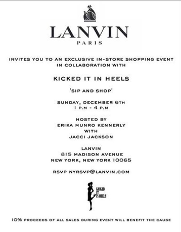 LANVIN CHARITY EVENT