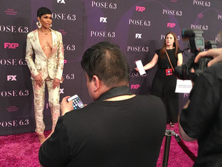The Wonder Woman on Vogue, Leiomy Maldonado, hits the red carpet at the Premiere of FX Pose wearing
