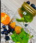 Mint,Tangerine & Blueberries 😋