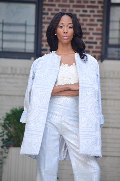 Blue coat and pants set