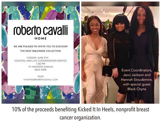 Roberto Cavalli breast cancer event
