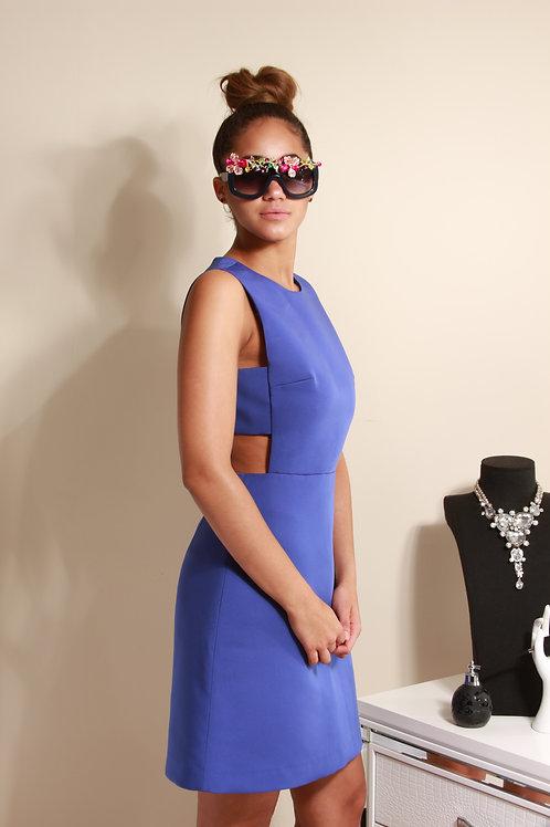 BLUE CUT OUT DRESS