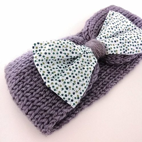 headbands tricoté motif pois