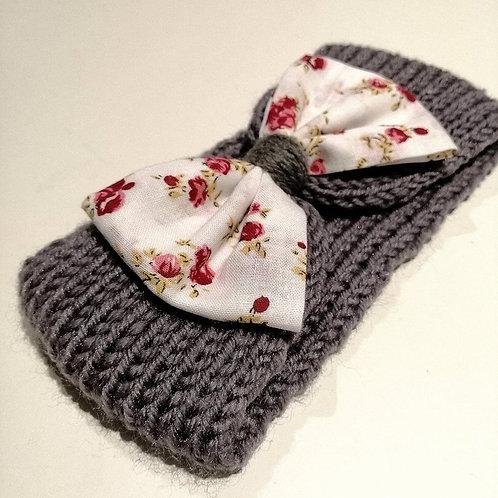 headbands tricoté fleuri